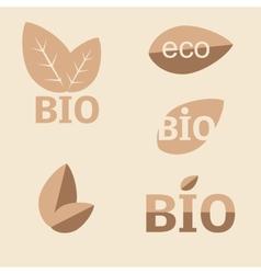 Ecology organic icon set vector