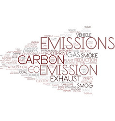 Emission word cloud concept vector