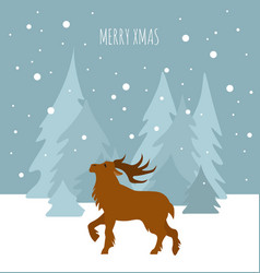 fairy reindeer in the forest elements for vector image