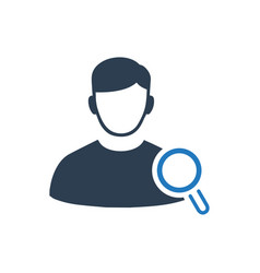 Find user icon vector
