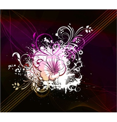 flower with abstract background vector image