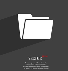 Folder symbol Flat modern web design with long vector