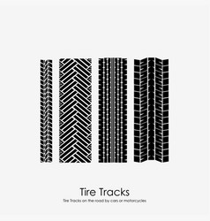 four tire tracks vector image