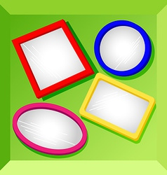 Frames or mirrors at bottom of a box-set2 vector image