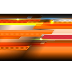 Geometric orange background vector