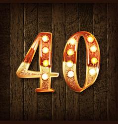 Golden number 40 vector