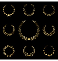 golden wreath vector image