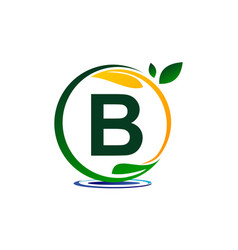 Green project solution letter b vector