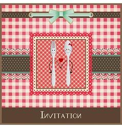 Greeting card or menu design vector image vector image