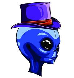 Grey alien monster halloween cartoon vector