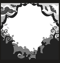 Halloween border for design with spooky items and vector