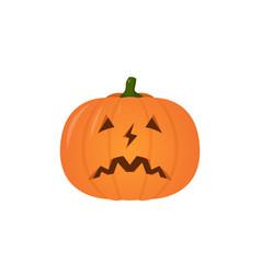 halloween pumpkin flat design vector image