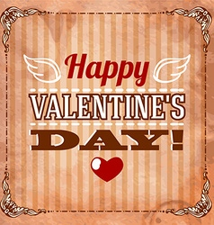 Happy Valentines Day Hand Lettering - vector image