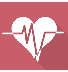 Heart rhytm cardiogramm medical icon vector image