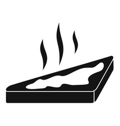 Hot butter of bread icon simple style vector