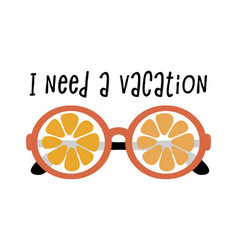 i need a vacation poster vector image
