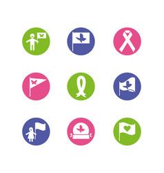 Icon set zero discrimination day design vector