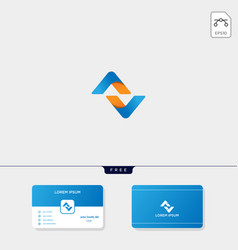 initial av a or n logo template for corporate vector image