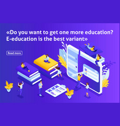 Isometric article for education vector