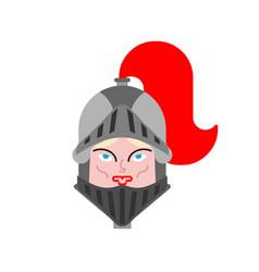Joan arc face portrait woman knight history vector