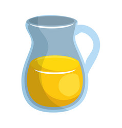 Juice jar glass vector