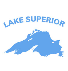 Lake superior map michigan superior vector