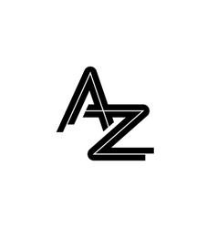 letter a z logo design template vector image