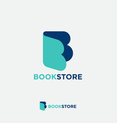 letter b like open book literature online vector image