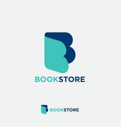 Letter b like open book literature online vector