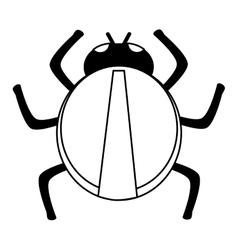 Line round bug design vector