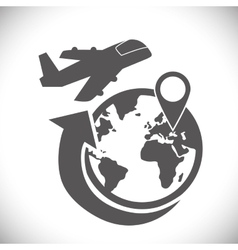 Logistic and airplane icon design vector
