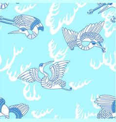 Oriental seagulls ornament vector
