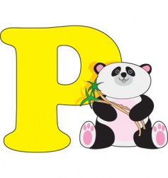 P is for panda vector