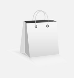 paper bag on white background vector image