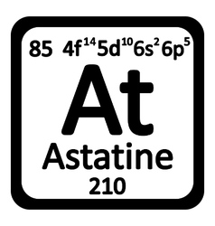 Periodic table element astatine icon vector