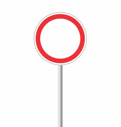 round traffic sign vector image