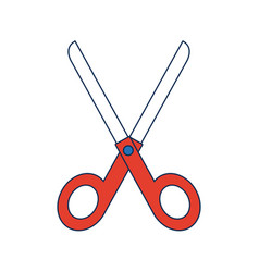 School scissors hand operated cutting instruments vector