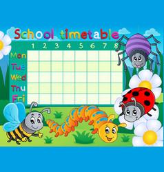 School timetable topic image 6 vector