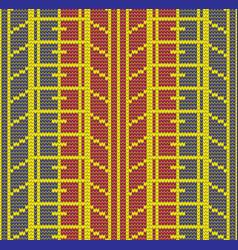 Seamless knitting tire tracks vector