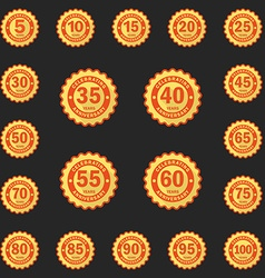 Set of Anniversary emblems logo templates Flat vector