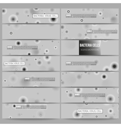 Set of modern banners Molecular research cells vector image vector image