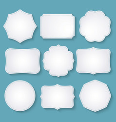 Set of paper decorative frames vector