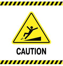 Sign danger falling vector