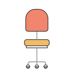 Silhouette color sections of office chair front vector