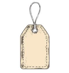 sketch tag for sales vector image