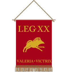 standard of legio xx valeria victrix vector image