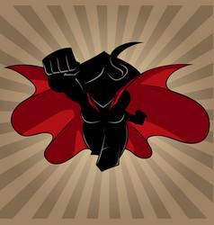 superheroine coming ray light silhouette vector image