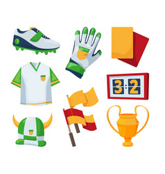 symbols for soccer competition vector image