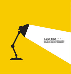 Table office lamp vector