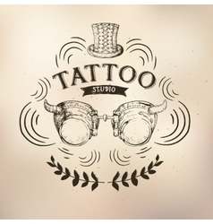 Tattoo steampunk studio vector image